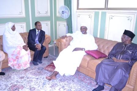 From the right Dr.E. Osagie Alhaji Aminu Dantata Dr.M.N. Salihu